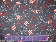 AMERICAN FLAGS STARS on TRUE Made In USA 100% COTTON FABRIC Priced By The Yard