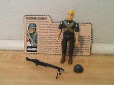 Vintage 1982 GI Joe Rock N Roll And 100% complete Straight Arm File Card