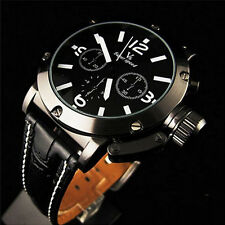 Fashion V6 orange word white men and women belt quartz watch imitation leatherGG
