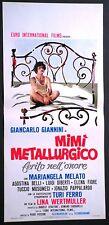 Locandina MIMI' METALLURGICO FERITO NELL'ONORE 1°ED.IT.1972 GIANNINI MELATO