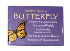 "Advice from a Butterfly Novelty, Inspirational 3 1/2"" x 2 1/2"" Kitchen Magnet"