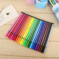12/24/36 Colours Washable Watercolor Pen Marker Painting Drawing Kids Art Supply