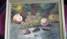 Pintura Al Óleo Original De Bodegón, Frutas