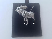 A47 Standing Moose on a 925 sterling silver Necklace Handmade 16 inch chain