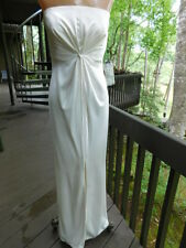 VALENTINO ivory cream off white STRAPLESS or STRAPS silk GOWN long DRESS $2835 s
