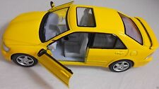 Yellow Toyota Lexus IS 300 Auto Die Cast Pull Action Model Miniature Toy Car