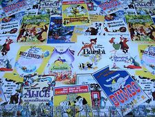 1 Yard Quilt Cotton Fabric - Springs Disney Vintage Style Movie Posters Packed