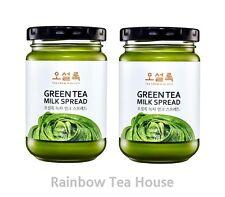 [OSULLOC] Green Tea Milk Spread Jam Matcha Cream Jeju Island 400 g ( 200 g X 2 )