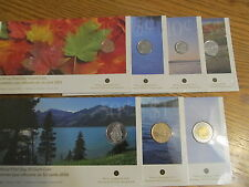 2005 Canada First Day Coins Complete Set-1,5,10,25,50 Cents-$1,$2 Coin