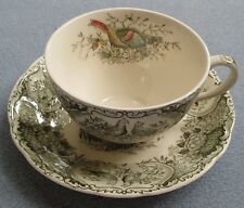 Johnson Brothers Windsor Ware Woodland Wild Turkeys Cup Saucer Set ENGLAND