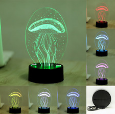 7 Color Jellyfish 3D Visual Led Night Light for Kids Baby Touch USB Table Lamp