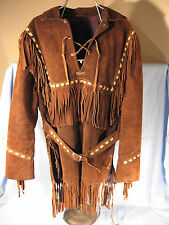 1970's Brown Leather Fringe Jacket made in Mexico