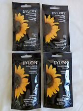 Dylon Permanent Fabric Dye Lot of 4 SUNFLOWER YELLOW 1.75 oz Pouch