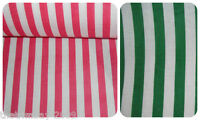 Candy Striped Polycotton Dress/Craft Fabric - Two Colours - £2.99 per metre