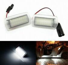 Pair Xenon White LED Courtesy Footwell Step Side Door Light For Lexus & Toyota