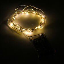 Silver Copper Wire LED Starry Lights String 3M 10ft 30LEDs Fairy Battery Powered