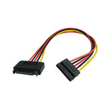 Okgear 24inch SATA 15 Pin to 15 Pin Power Extension Adapter Cable