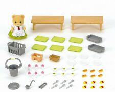 Calico Critters SCHOOL LUNCH SET Cafeteria Playset w Ava Cuddle Bear ~NEW~