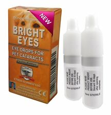 Ethos Bright Eyes Cataract Eye Drops For Dogs & Pets 1 Box - 2 x 5 ML Bottles
