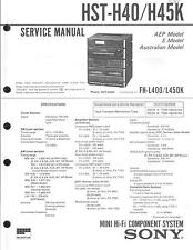 Sony Original Service Manual für HST-H 40/H 45K