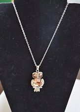Cookie Lee  / Vivi OLLIE THE OWL NECKLACE  NWT  NOS  Crystal