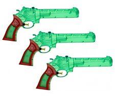 3x Wasserpistole Wasser-Pistole Spritzpistole Kanone Transparent Revolver 28 cm