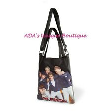1D One Direction Crossbody Tote Bag Black Purse Niall Liam Harry Louis Zayn NWT