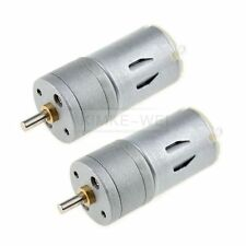 2 x 12V DC 1000RPM Mini Torque Gear Box Motor Hobby