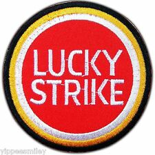 LUCKY STRIKE Motor Sport Racing Biker Sew Iron on Patch Embroidered Jacket C0008