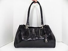 Liz Claiborne Black Shiny Tote Shoulder bag Handbag purse