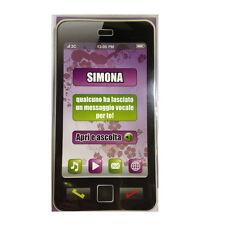 COMPLEANNO biglietto musicale a telefono squilla segreteria nome SIMONA