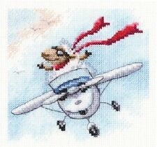 "Counted Cross Stitch Kit RTO - ""I fly wherever I want to"""