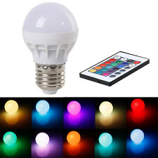 3W E27 RGB LED Light Color Changing Lamp Bulb 85-265V With IR Remote Control
