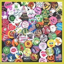 100 Pre-Cut assorted Holidays Seasons BOTTLE CAP IMAGES Variety 1 inch discs