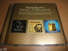 DISNEY on BROADWAY cd LION KING aida BEAUTY AND THE BEAST highlights PROMO