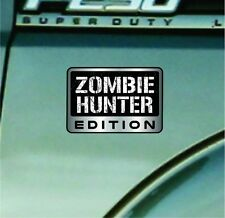 Zombie Hunter Edition Vinyl Decal Car Sticker Badge Vinyl Decal Walking Dead TWD