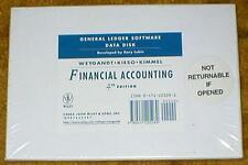 Financial Accounting, General Ledger Software - Windows Data Disk 4th Edition