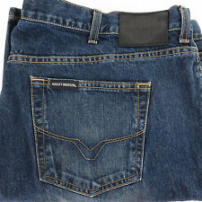 Harley Davidson 44 x 30 Distressed Blue Jeans Relaxed Straight Cut 99029-10VM