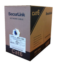 SecurLink 1000 FT Roll CMR/FT4 CAT 6 CAT6 Ethernet Pure Copper Network Cable