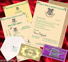 Personalised Hogwarts Harry Potter Acceptance Letter CHRISTMAS GIFT FOR FRIEND