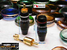 1 PAIR RCA NAKAMICHI MODEL 2 GOLD 24 K FOR CHANGE TURNTABLE