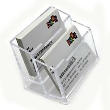Acrylic Office Equipment Supply Desk Business Card Holder Case Box Stand Display
