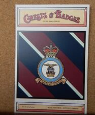 Royal Air force Support Command Crests & Badges of  the Armed services Postcard