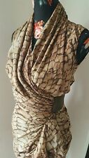 All saints bleach python print wrap dress size UK 6 us 2 Eu 34