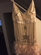 1920s Gatsby style Feather-Bottom Beaded Dress by Sue Wong (Never Worn No Tags)