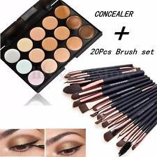 15 Colors Face Contour Cream Makeup Concealer Palette Professional & 20 BRUSH