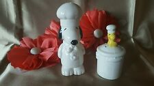 RARE VINTAGE RETIRED SNOOPY AND WOODSTOCK SALT AND PEPPER SHAKERS - PRE-OWNED