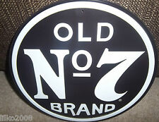 "JACK DANIEL'S OLD No7 WHISKEY  , ROUND 12"" METAL WALL SIGN,USA, PUB/BAR/ MANCAVE"