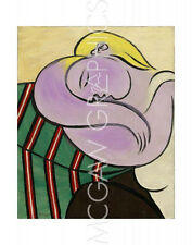 "PICASSO PABLO - WOMAN WITH YELLOW HAIR (FEMME AUX CHEVEUX JAUNES) 14"" x 11""(4163"