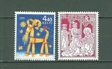 Estonia C77 MNH 2005 2v Christmas Below face